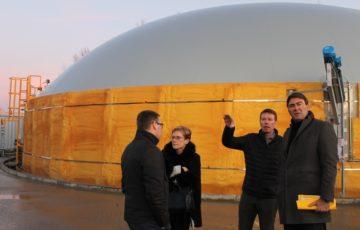 """L'usine de biométhanisation à Thuin: """"Grâce aux agriculteurs, on produit de l'énergie verte"""""""